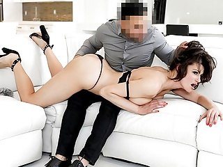 MYLFDOM - Hot Busty Cougar Gags On a Thick Dick