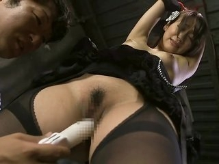 Honey Japanese Sho Nishino is playing her pussy with a dildo