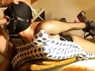 Slave fucked in her mouth