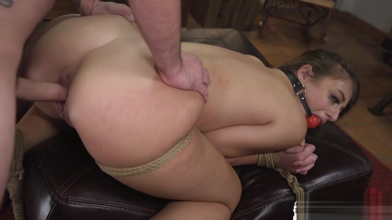 Bigass sub slut toyed and rimmed while bound