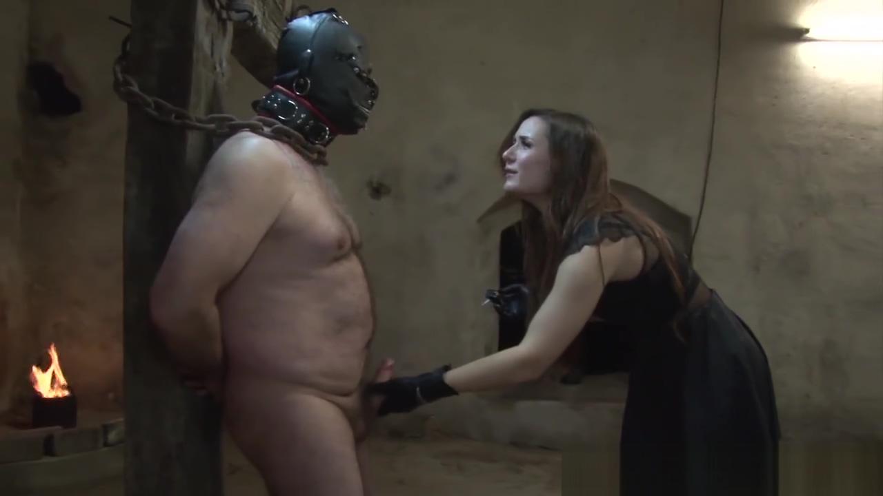 [vidleak] lady toying chained slave - masturbation instructions