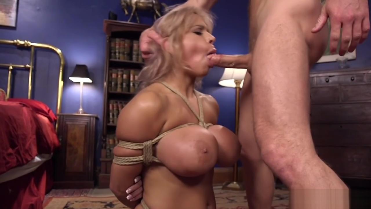 Huge tits Milf banged in bondage