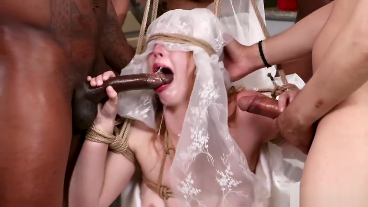 Blindfolded bride gets grop bdsm banged