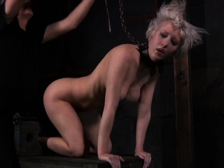 Engaging chick was caught while she was masturbating