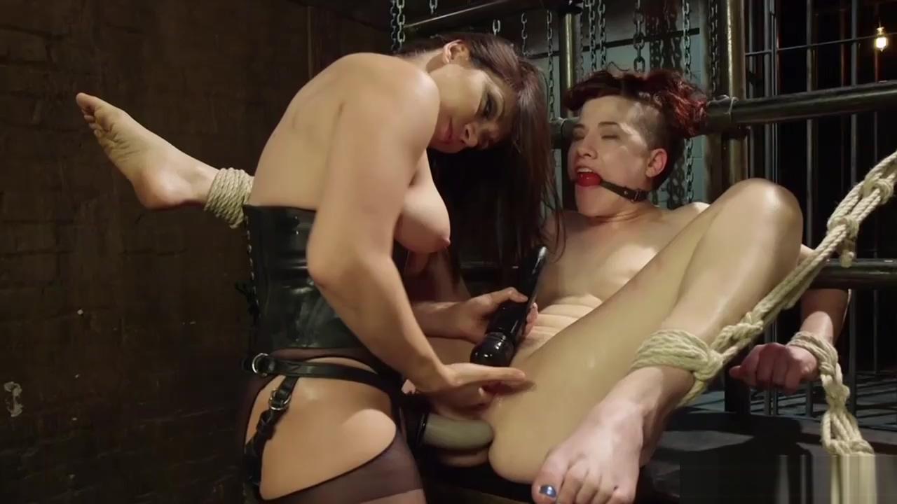 Blindfolded redhead sub lezdom whipped