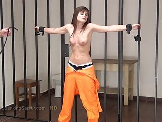 Tits whipped by Prison Guards