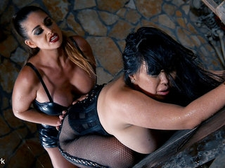 Tigerr Benson & Cathy Heaven in Prisoner Humiliation - Milfs Cram Pussy & Ass With Strap-On - KINK