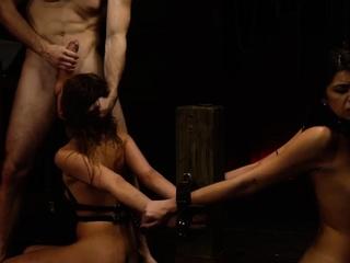 Teen fucks huge cock Two young sluts, Sydney Cole and Olivia
