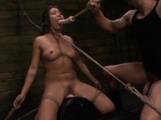 Busty Asian Mena Li Abused By Toy While Bonded