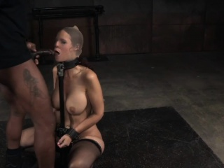 Bondage milf deepthroating hard cocks