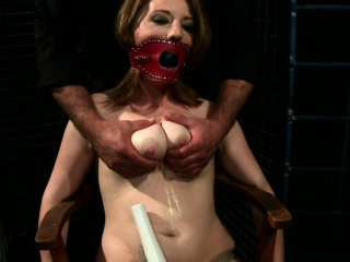 Busty submissive fucked after pussytoying