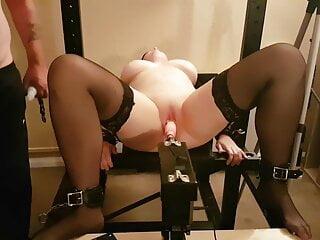 Dirty Little Slut Wife on Bdsm Fuck machine