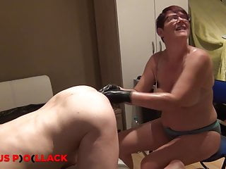 Nurse Sandra fists a slaves ass elbow deep