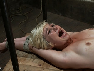 Hot Blond's First Time Being Made To Squirt Totally Helpless, Bound,  Cumming So Much It Hurts - HogTied
