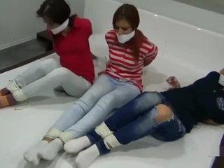 3 girls gagged