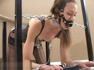 #153 Lingerie device bondage