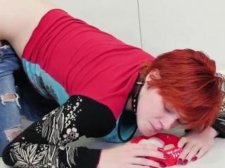 Fuck my redhead wife Cummie, the Painal Cum Cat