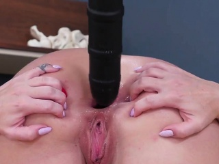 Bdsm sex on the bed He blew a big, giant stream all over her