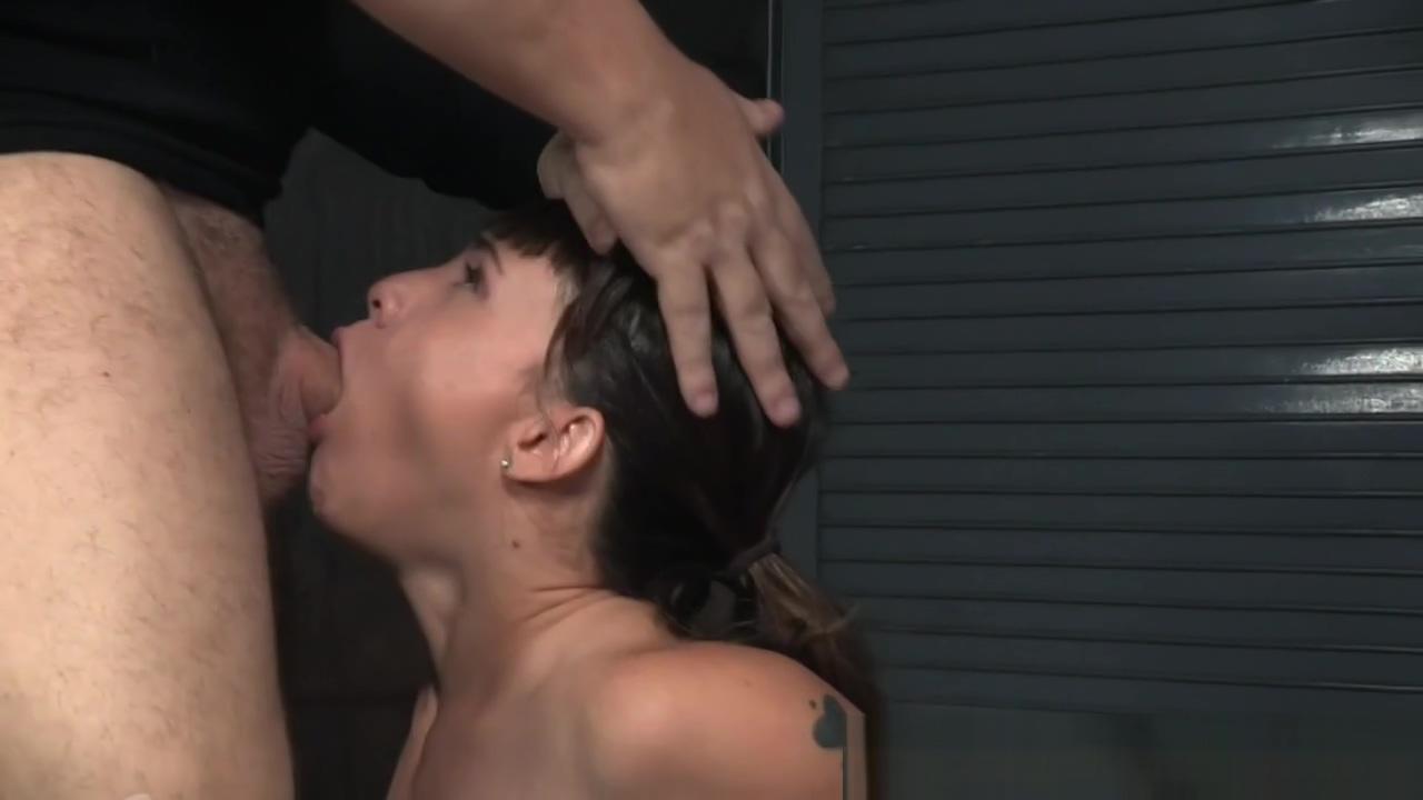 Teen slave sucking maledoms cock
